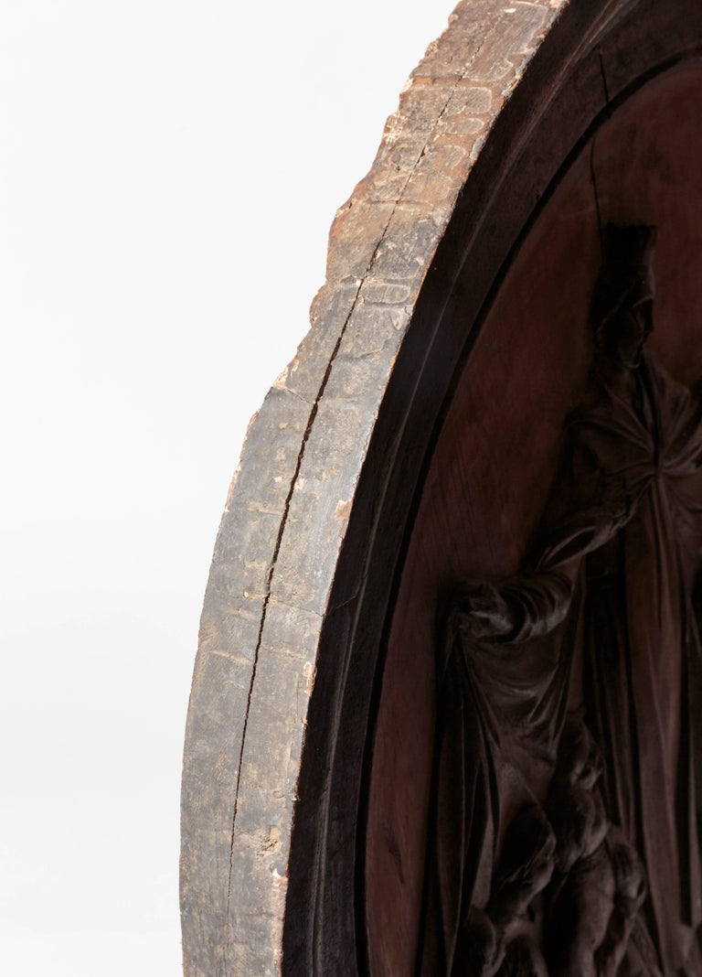 18th Century Italian Religious Carved Wood For Sale 5