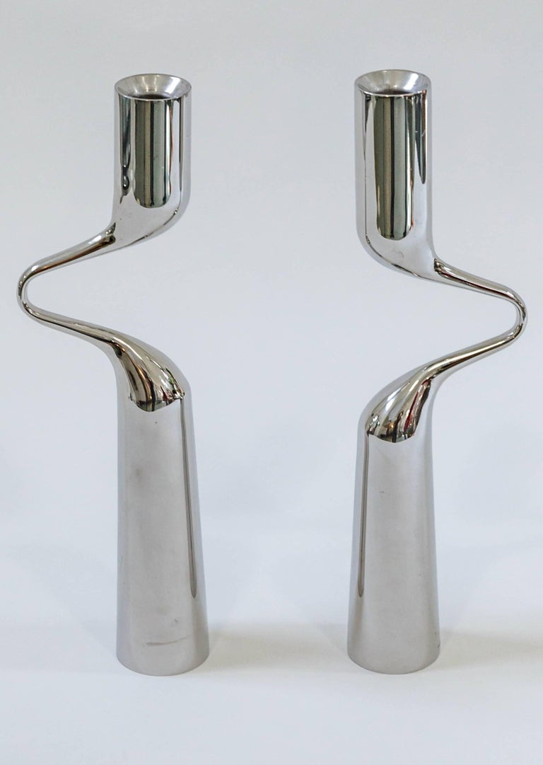 German Pair of Modernist Mikaela Dorfel Candle holders. Offered by Funky Finders For Sale