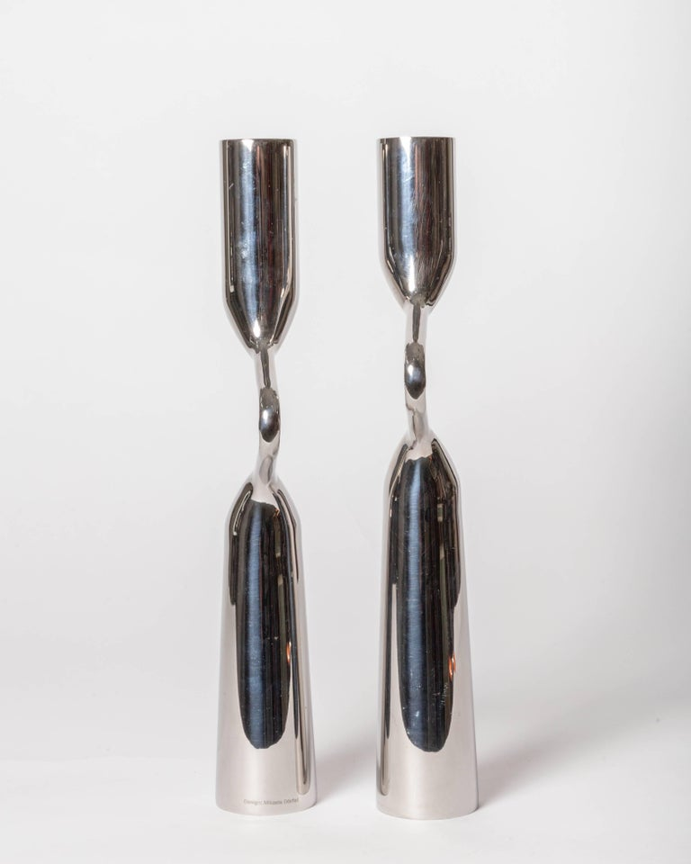 Pair of Modernist Mikaela Dorfel Candle holders. Offered by Funky Finders For Sale 4