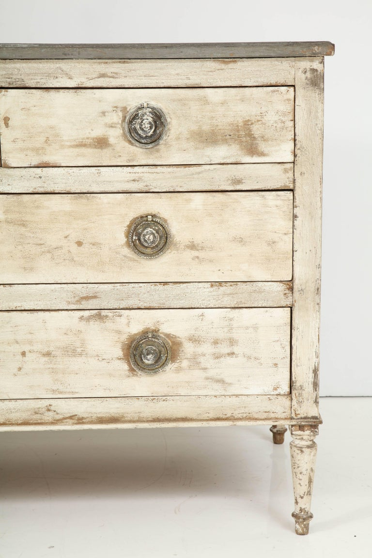 Directoire 19th Century French Painted Chest For Sale