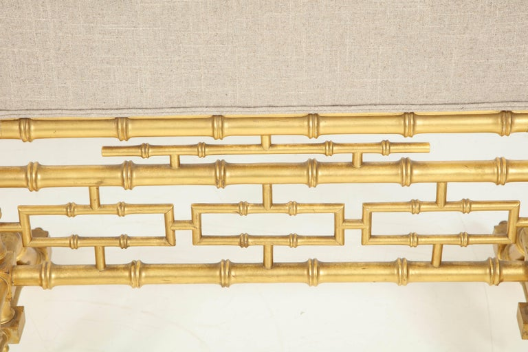 Faux Bamboo Fireplace Screen In Excellent Condition For Sale In New York, NY