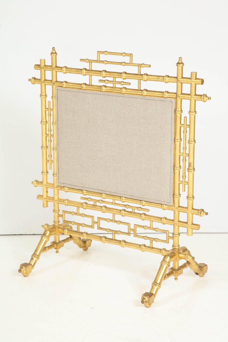 Faux Bamboo Fireplace Screen For Sale 5