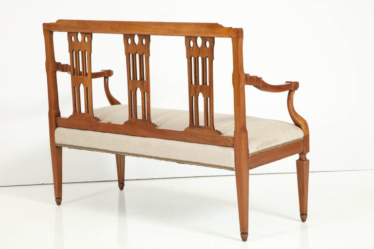 Italian Fruitwood Bench For Sale 2