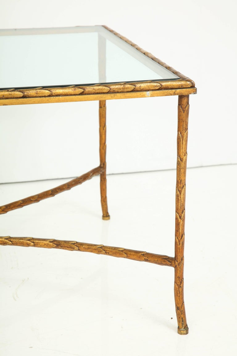 French Cocktail Table Attributed to Maison Baguès For Sale