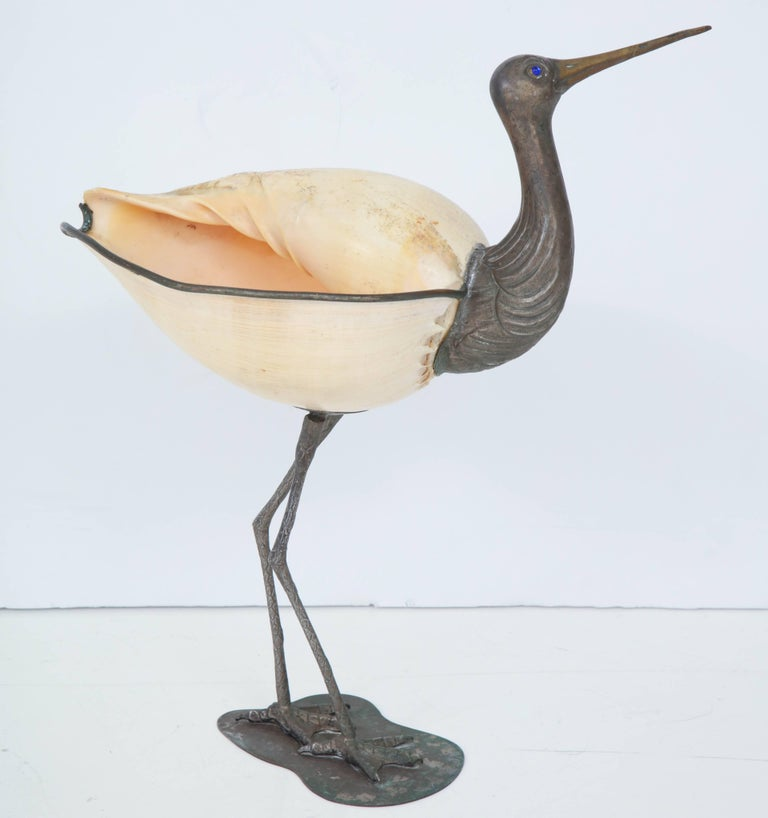 Italian Binazzi Seashell Bird For Sale