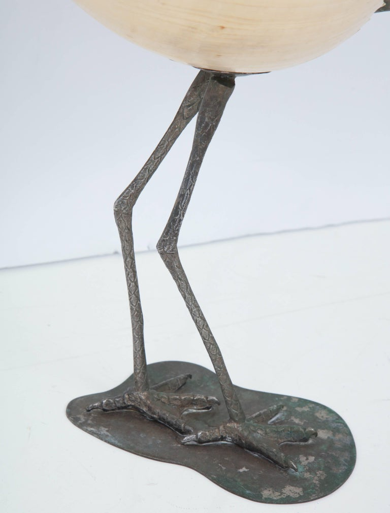 Late 20th Century Binazzi Seashell Bird For Sale