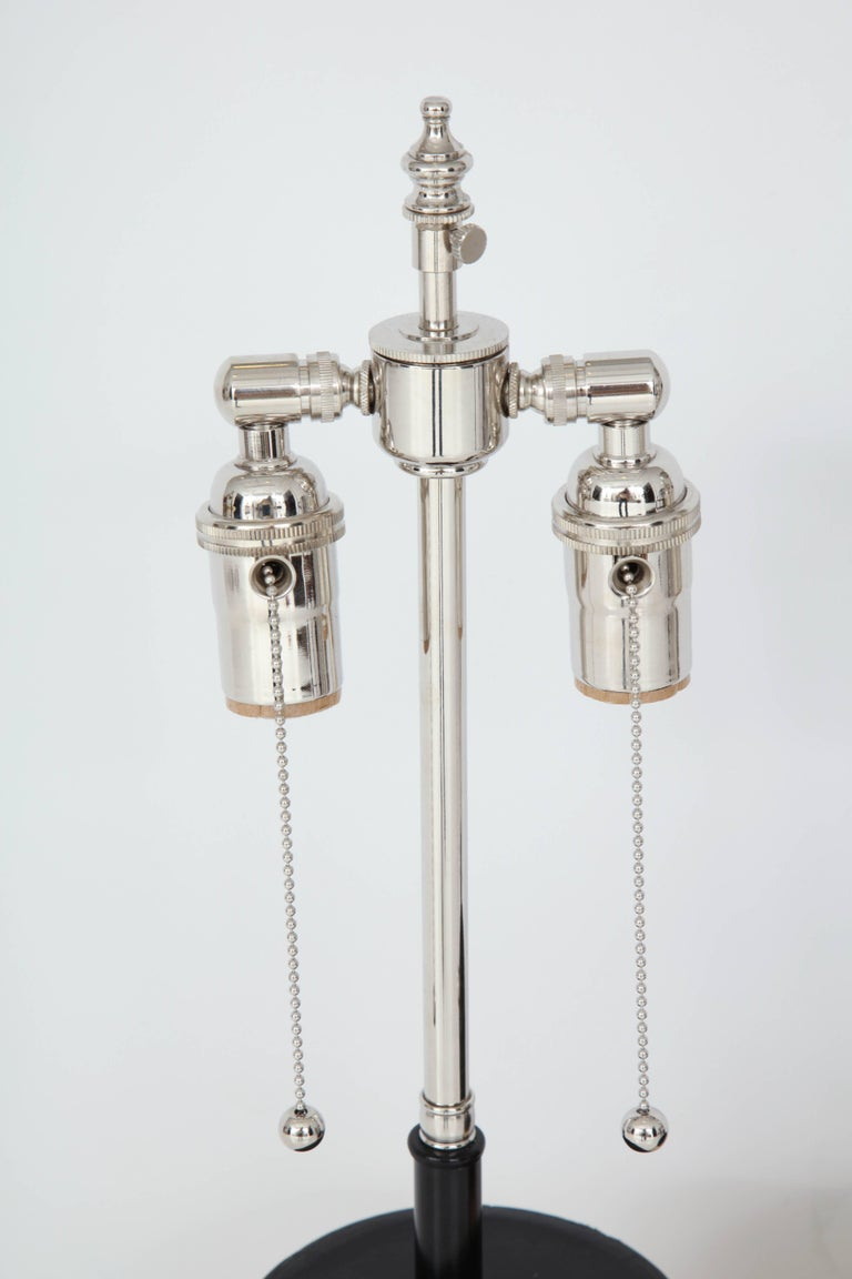 Leather Mondrain Lamps In Excellent Condition For Sale In High Point, NC