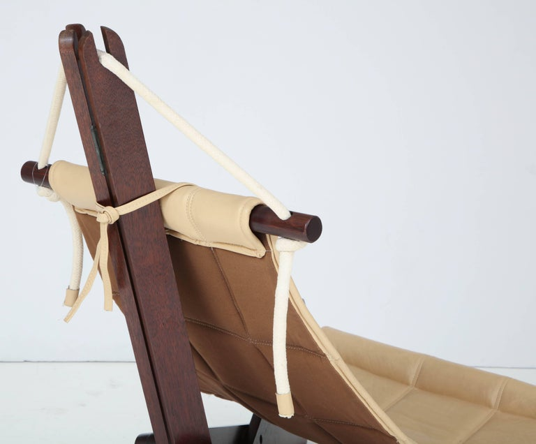 Leather Sail Chair by Dominic Michaelis For Sale