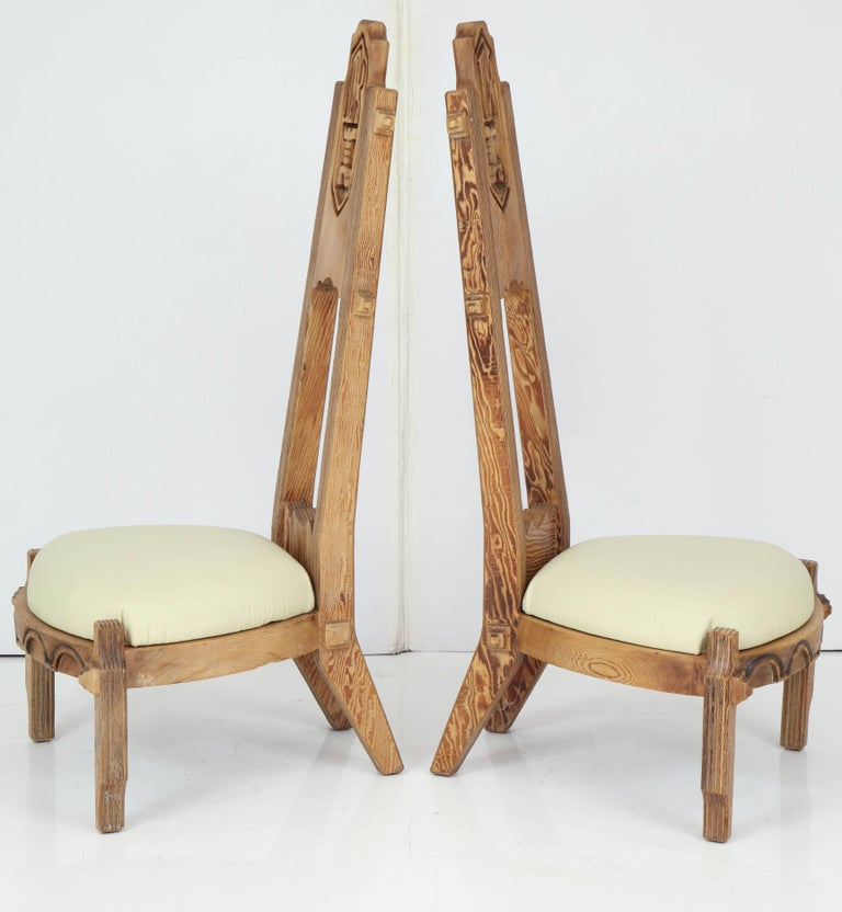 Mid-20th Century Pair of Witco Tall Back Chairs For Sale