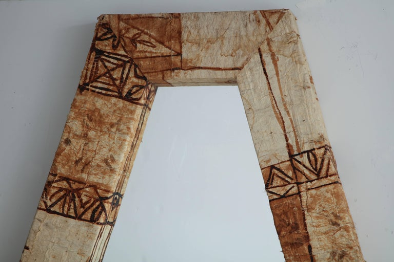 Tapa Cloth Mirror For Sale 1