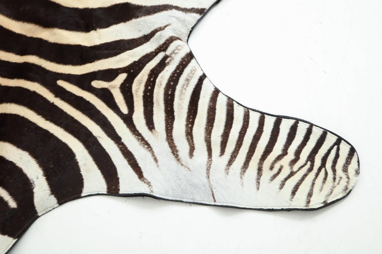Zebra Rug In Excellent Condition For Sale In New York, NY