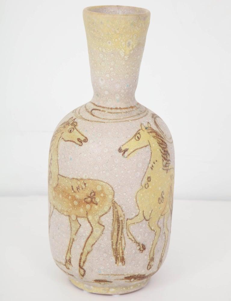Italian Ceramic Vase by Guido Gambone, Italy, circa 1950 For Sale