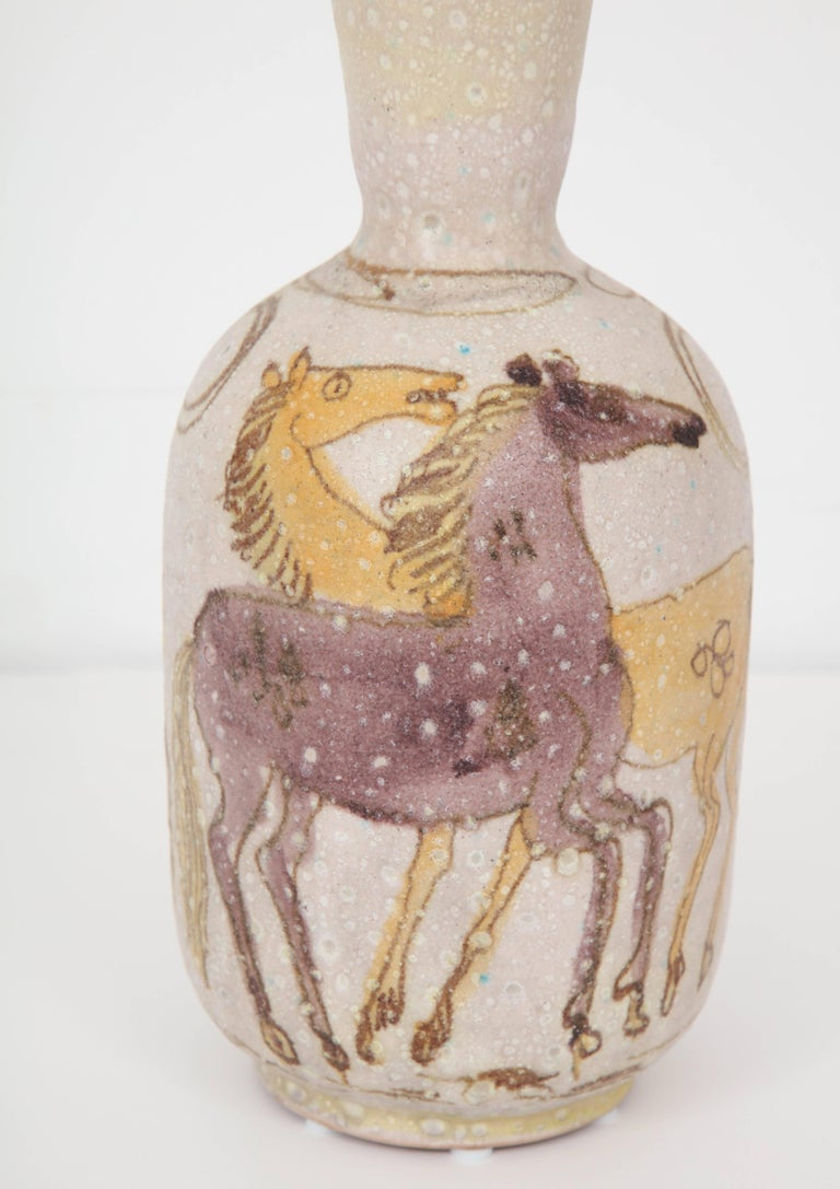 Ceramic Vase by Guido Gambone, Italy, circa 1950 In Excellent Condition For Sale In New York, NY