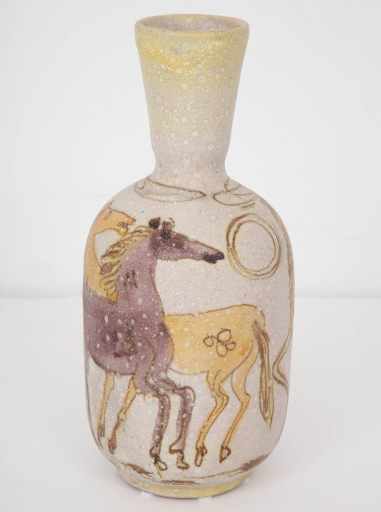 Mid-20th Century Ceramic Vase by Guido Gambone, Italy, circa 1950 For Sale