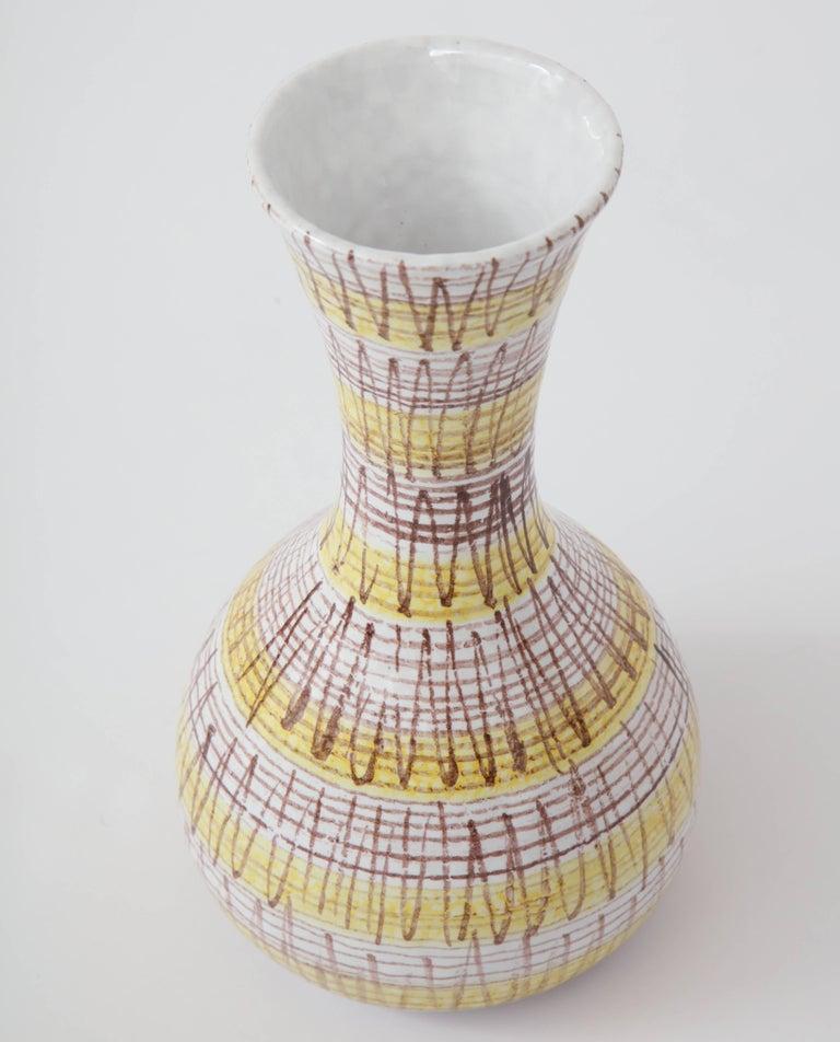 Mid-20th Century Ceramic Vase, Italy, circa 1950 For Sale