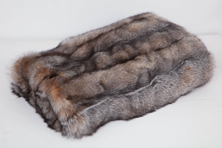 Swedish Fox Throw Offered by Area ID For Sale