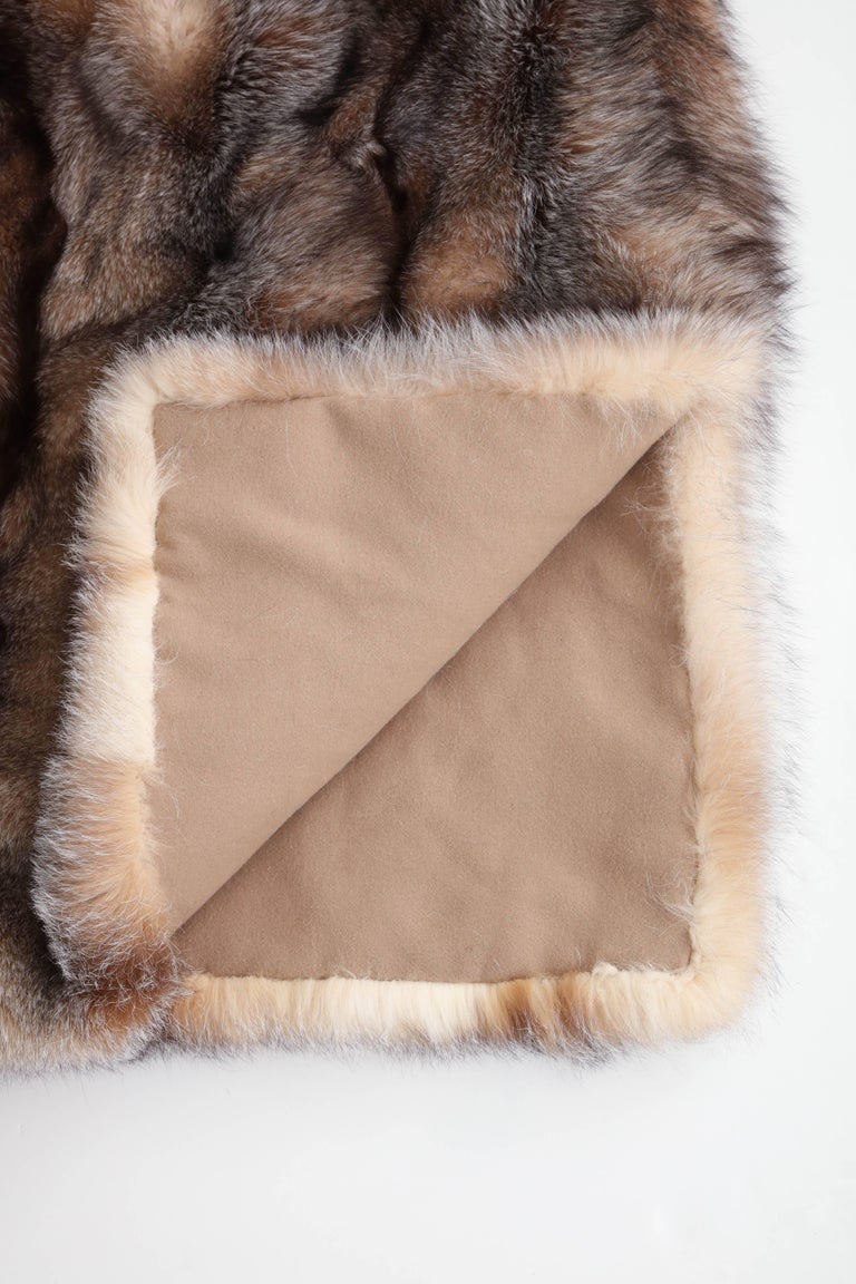 Fox Throw Offered by Area ID In Excellent Condition For Sale In New York, NY