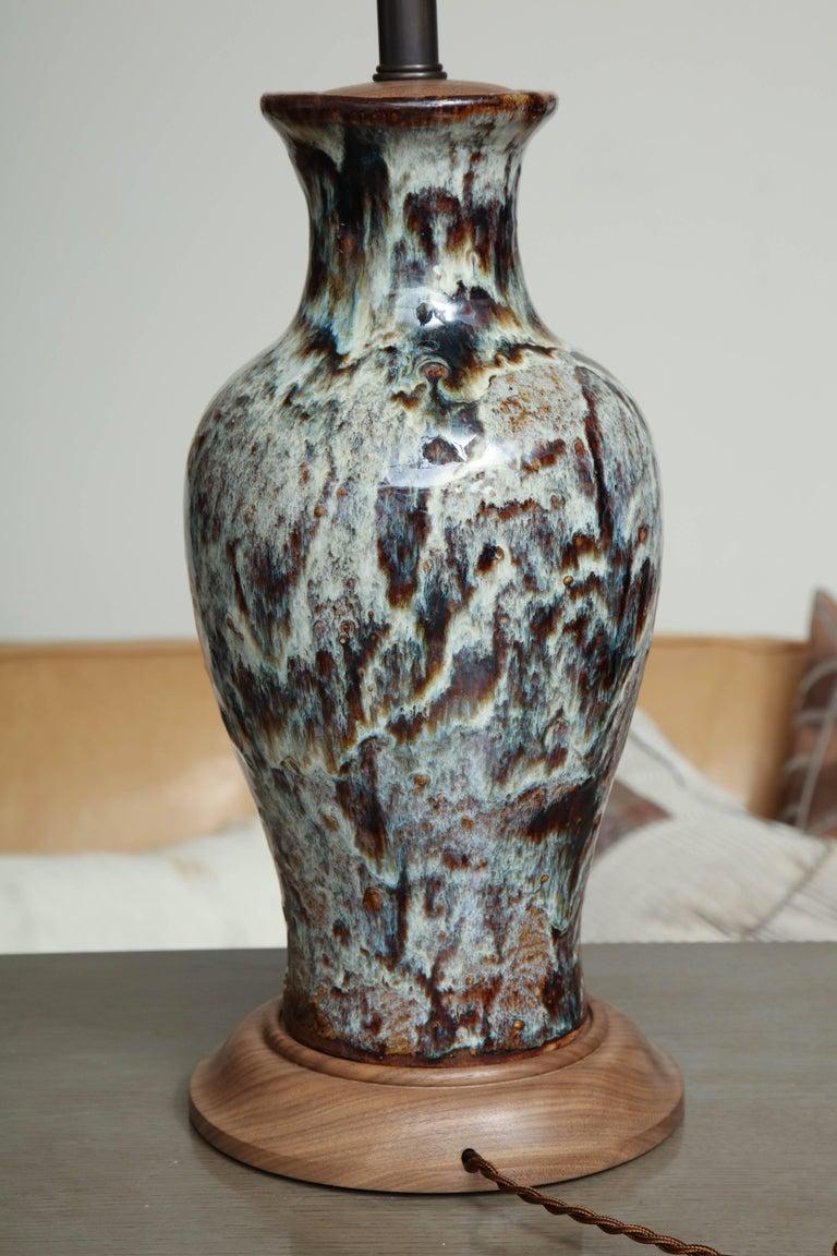 Jun Ware Lamp For Sale 3