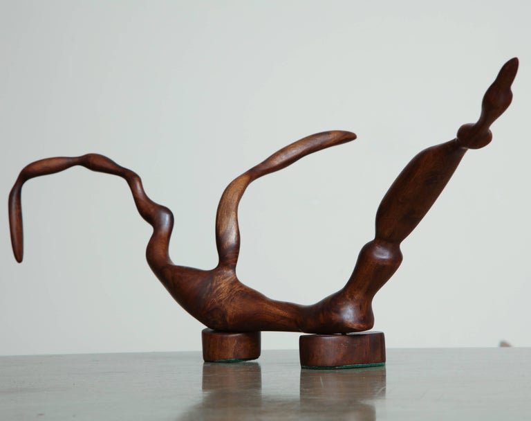 Wood Abstract Sculpture For Sale