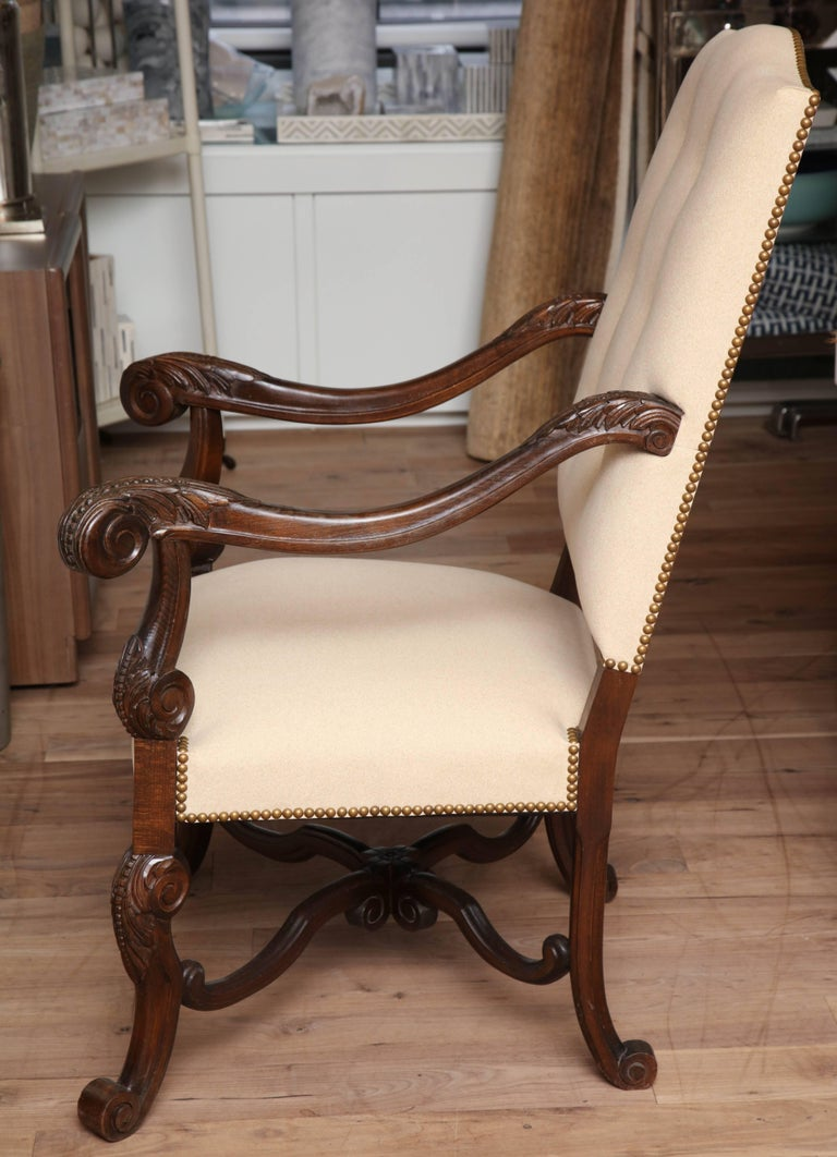 Belgian Carved Armchair For Sale 4