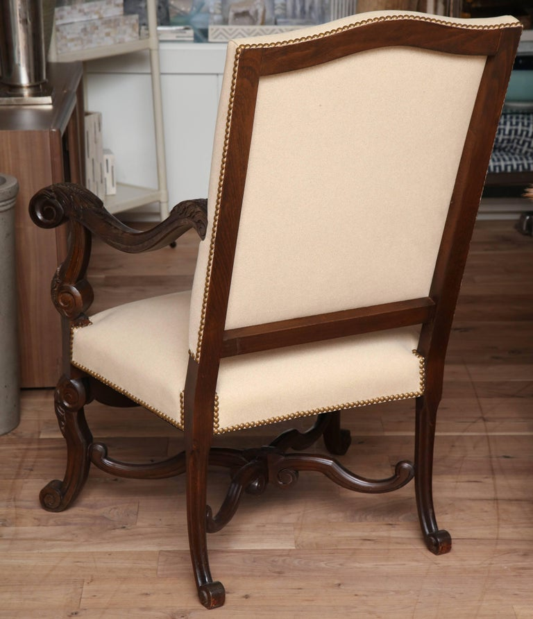Belgian Carved Armchair For Sale 5