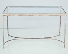 French Silvered Bronze Table