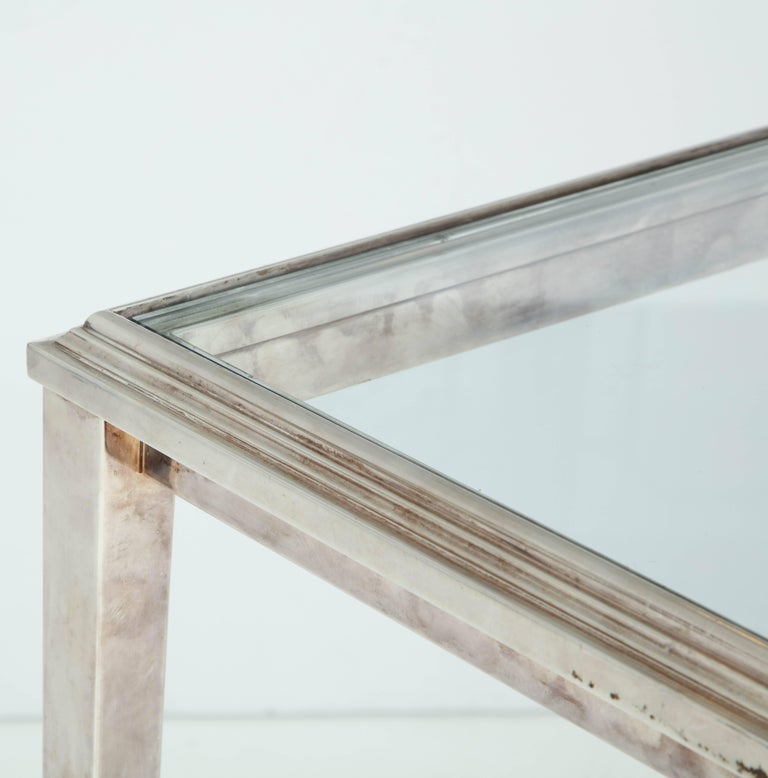 French Silvered Bronze Table For Sale 3