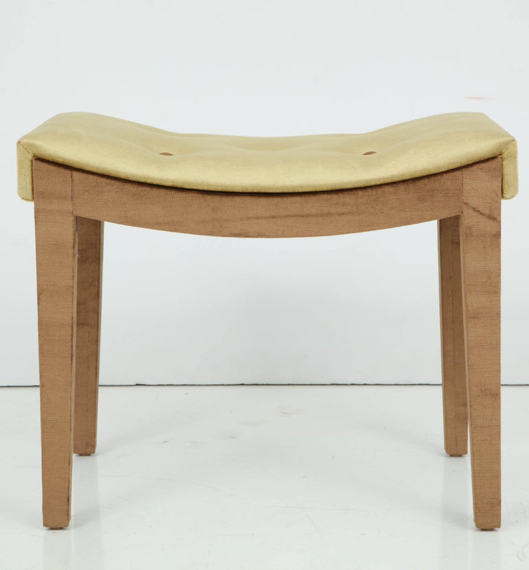 Velvet Bench In Excellent Condition For Sale In New York, NY