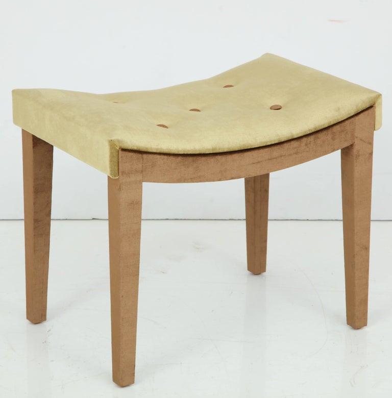 Mid-20th Century Velvet Bench For Sale