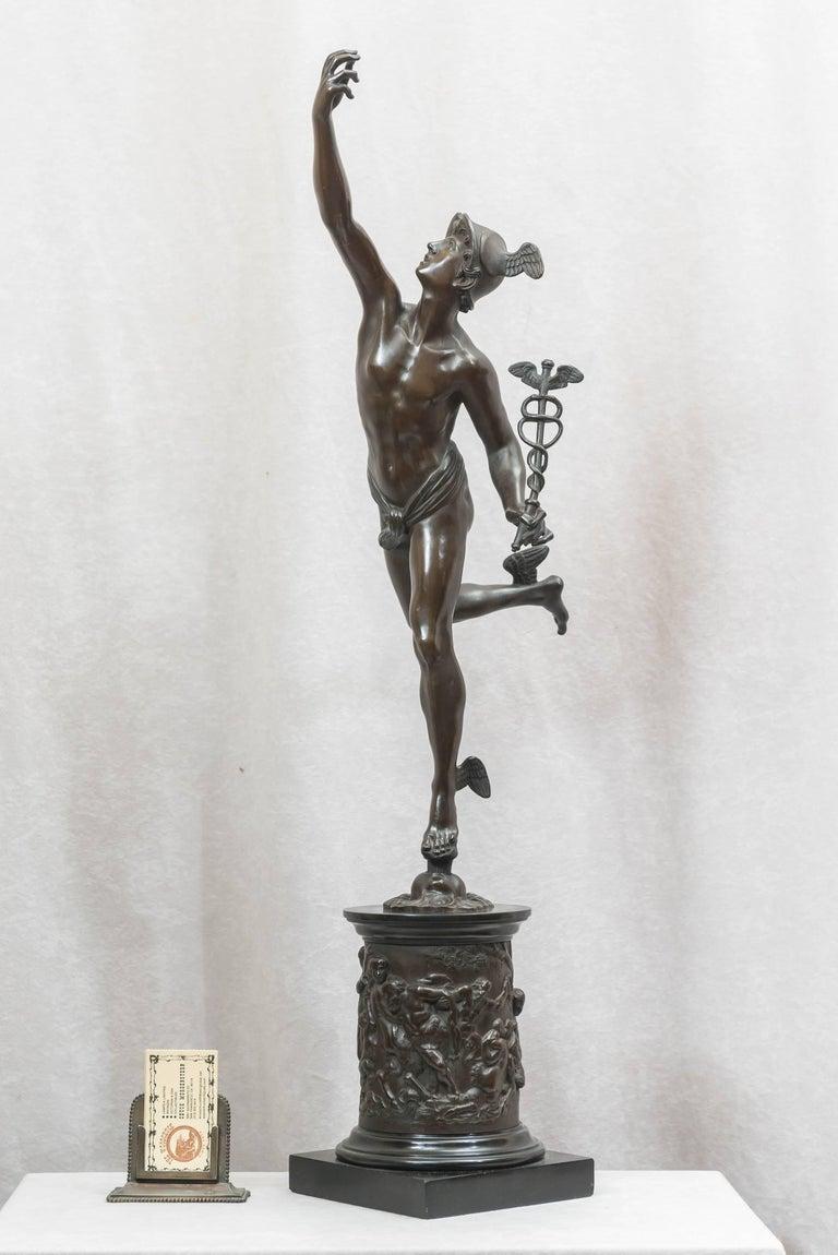 Bronze Figure Of Mercury By Giambologna Souvenir Of The Grand Tour