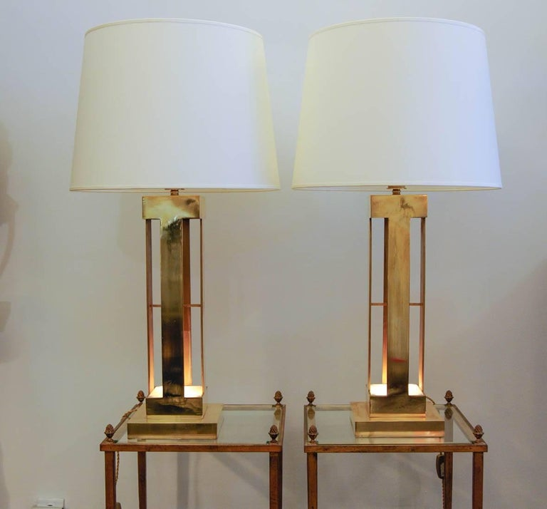 Large Pair of 1970s Lamps For Sale 1