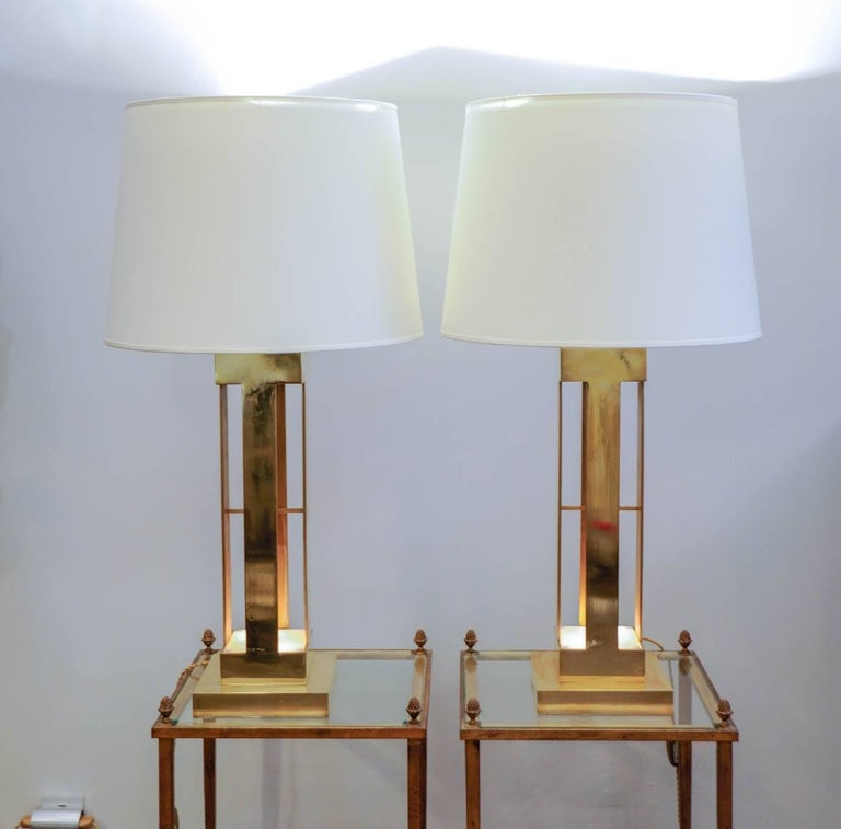 Large Pair of 1970s Lamps For Sale 2