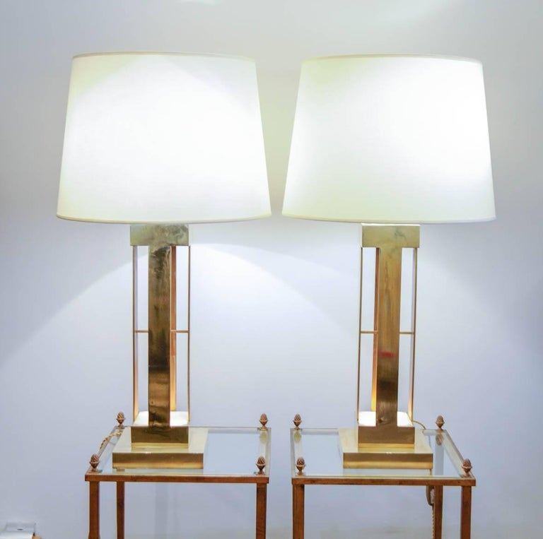 Large Pair of 1970s Lamps For Sale 3