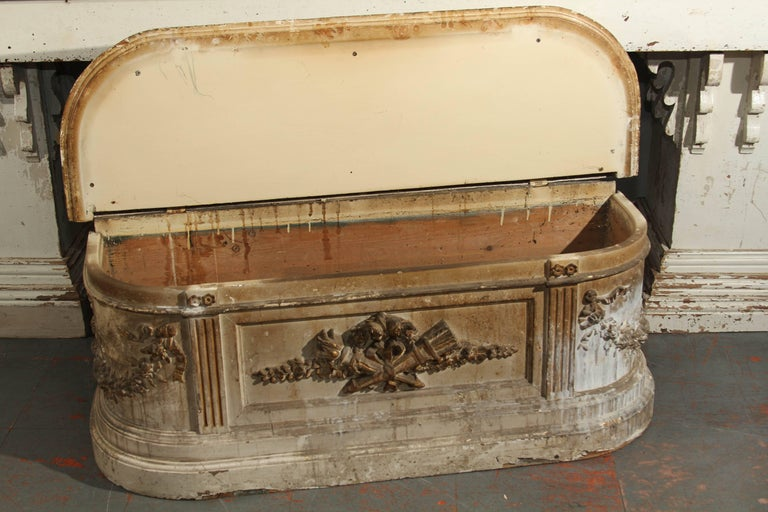 19th Century French Bench with Velvet Top For Sale 6