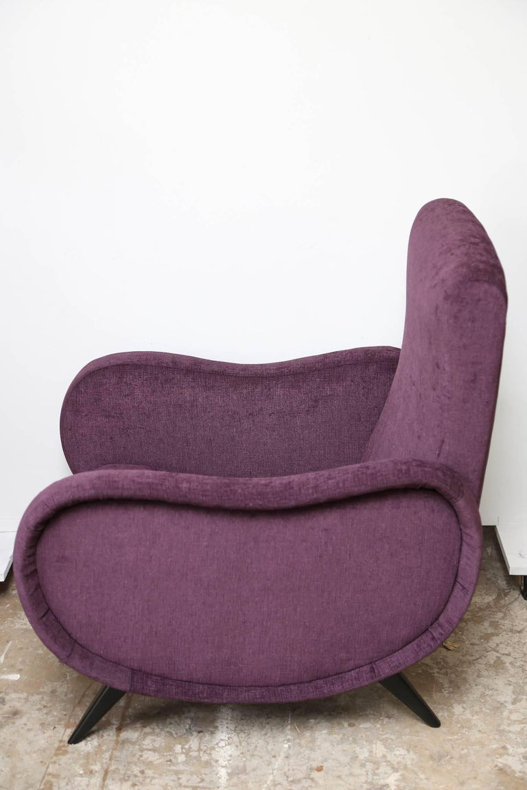 Pair of Midcentury Italian Armchairs in the Style of Marco Zanuso Refinished In Excellent Condition For Sale In Miami, FL
