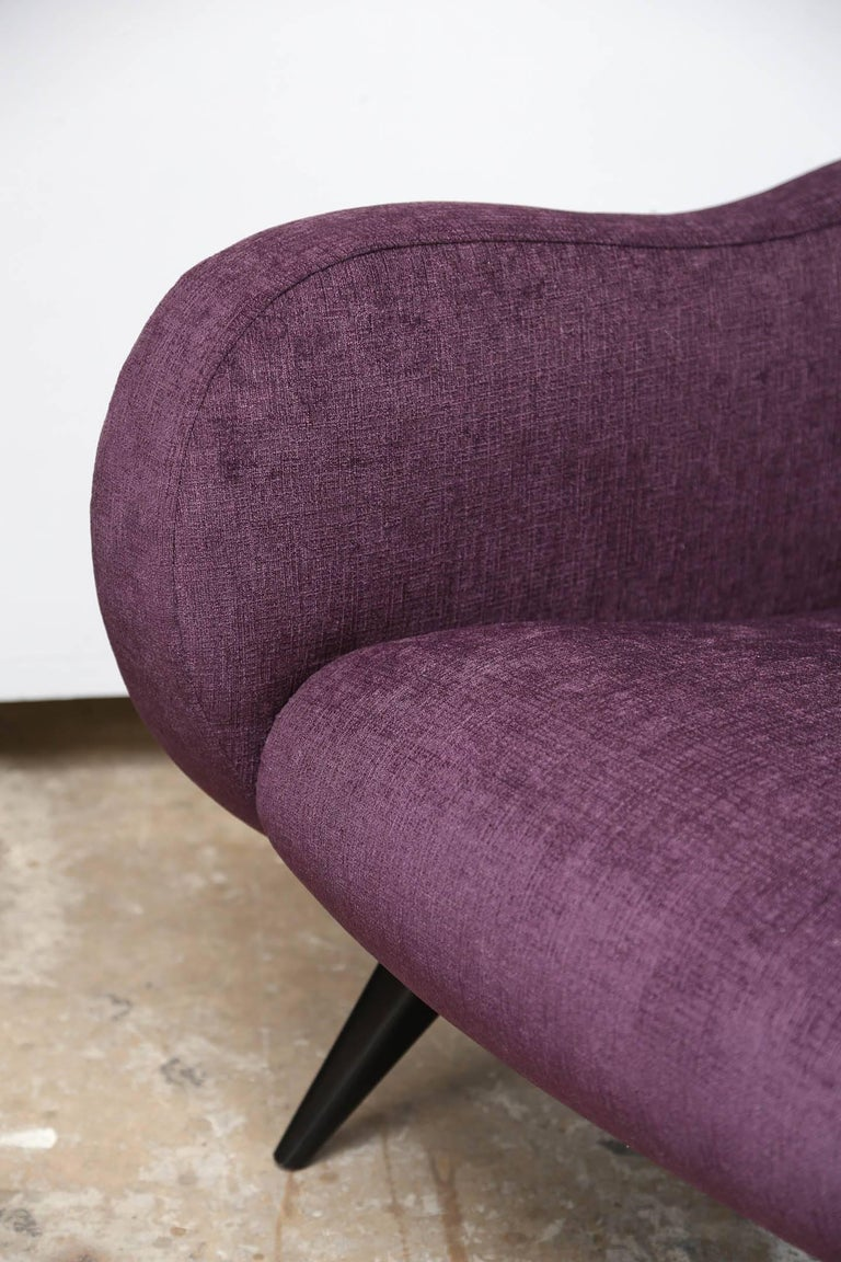 20th Century Pair of Midcentury Italian Armchairs in the Style of Marco Zanuso Refinished For Sale