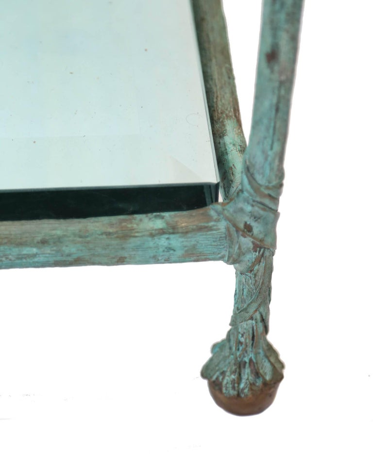 Glass Coffee Table in the Style of Alberto Giacometti For Sale 1