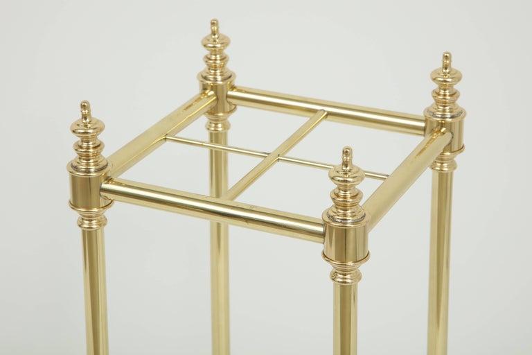 American Art Deco Brass Umbrella Stand For Sale