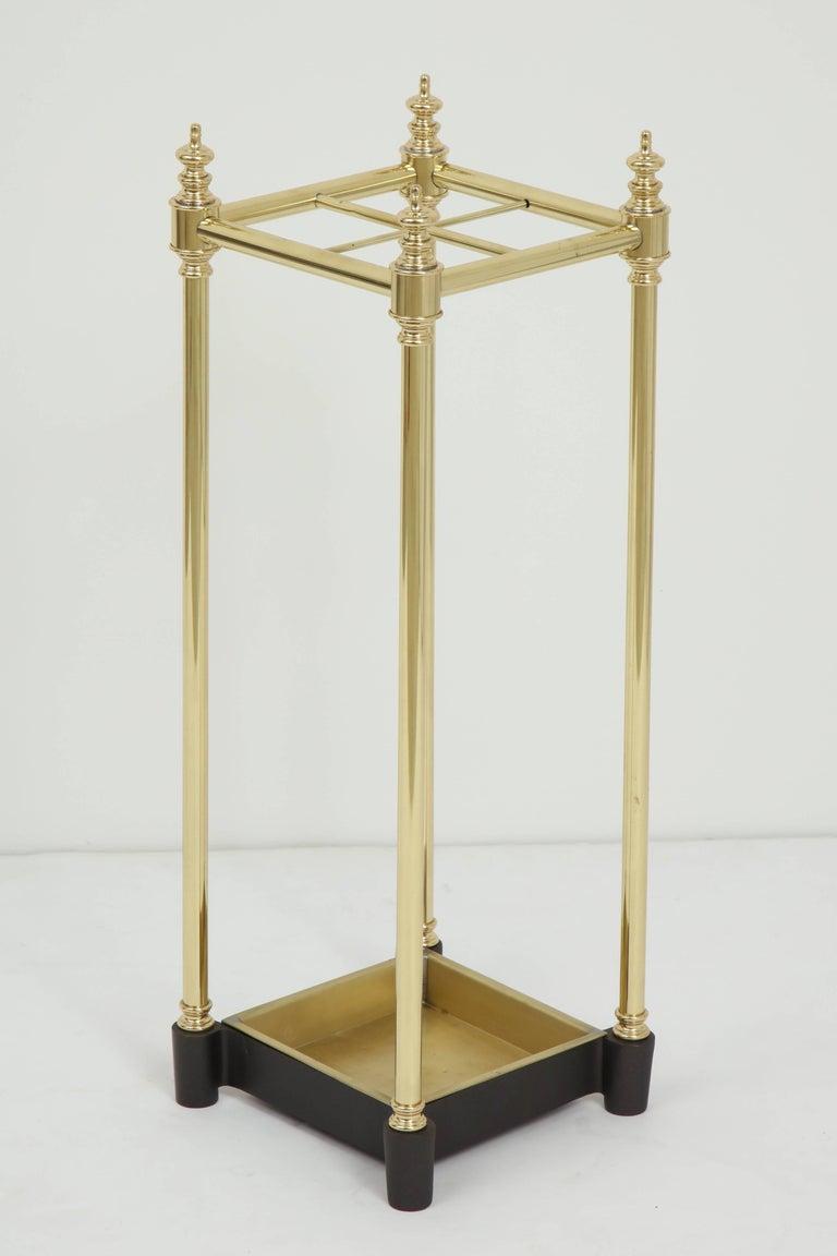 20th Century Art Deco Brass Umbrella Stand For Sale