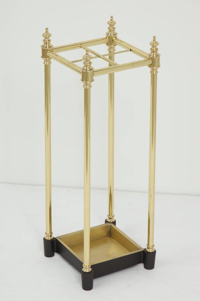 Art Deco Brass Umbrella Stand For Sale 1