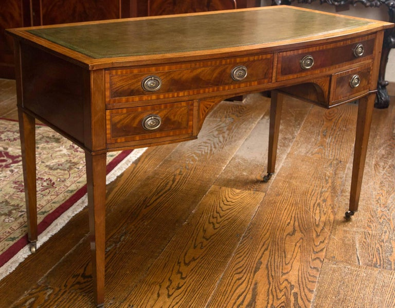 English Writing Table / Desk with Leather Writing Surface For Sale 2