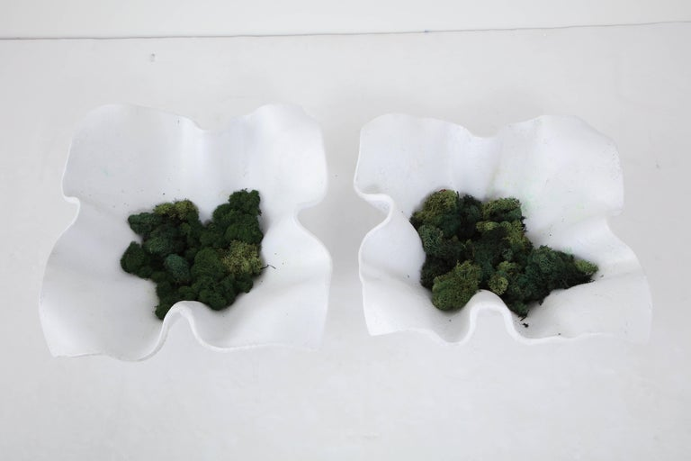 1960s Pair of Willy Guhl Handkerchief Planters In Good Condition For Sale In Mt Kisco, NY