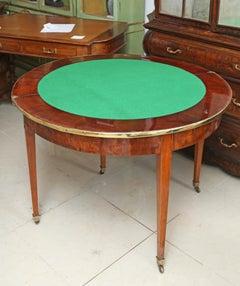 Very Rare English 19th Century English Demilune Console Table