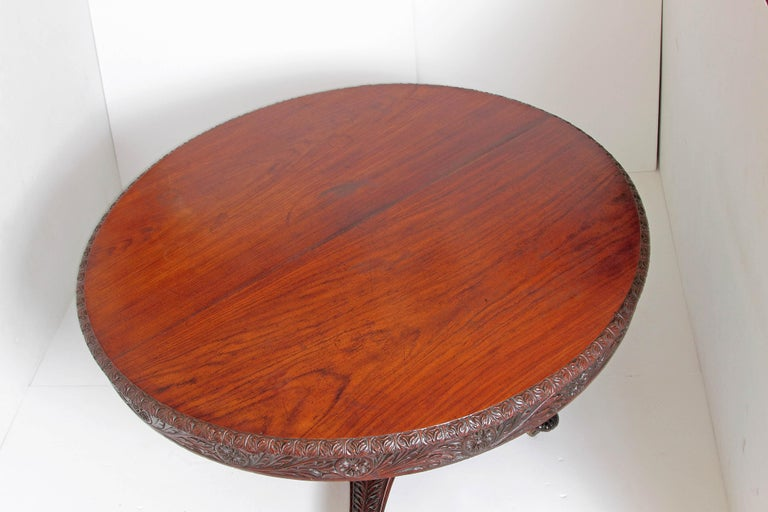 Anglo-Indian Tilt-Top or Centre Table of Mahogany For Sale 2