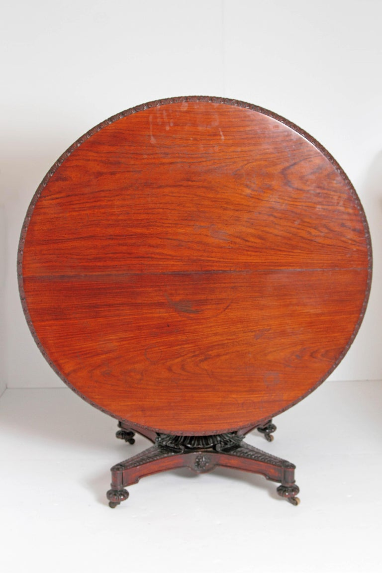 Anglo-Indian Tilt-Top or Centre Table of Mahogany For Sale 7