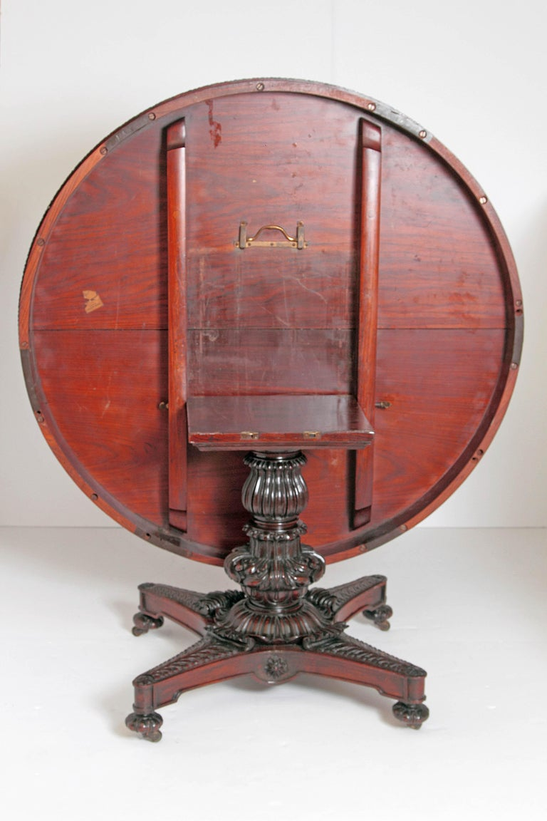 Anglo-Indian Tilt-Top or Centre Table of Mahogany For Sale 9