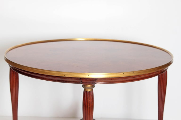 19th Century Russian Neoclassical Centre Table with Burled Walnut Top For Sale 1