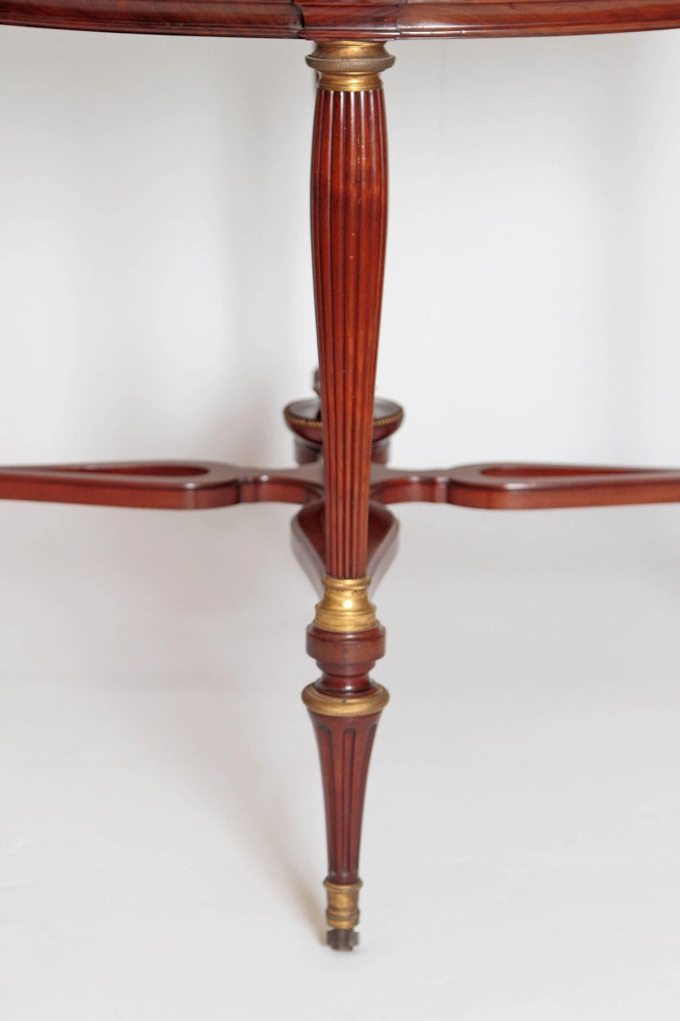 19th Century Russian Neoclassical Centre Table with Burled Walnut Top For Sale 2