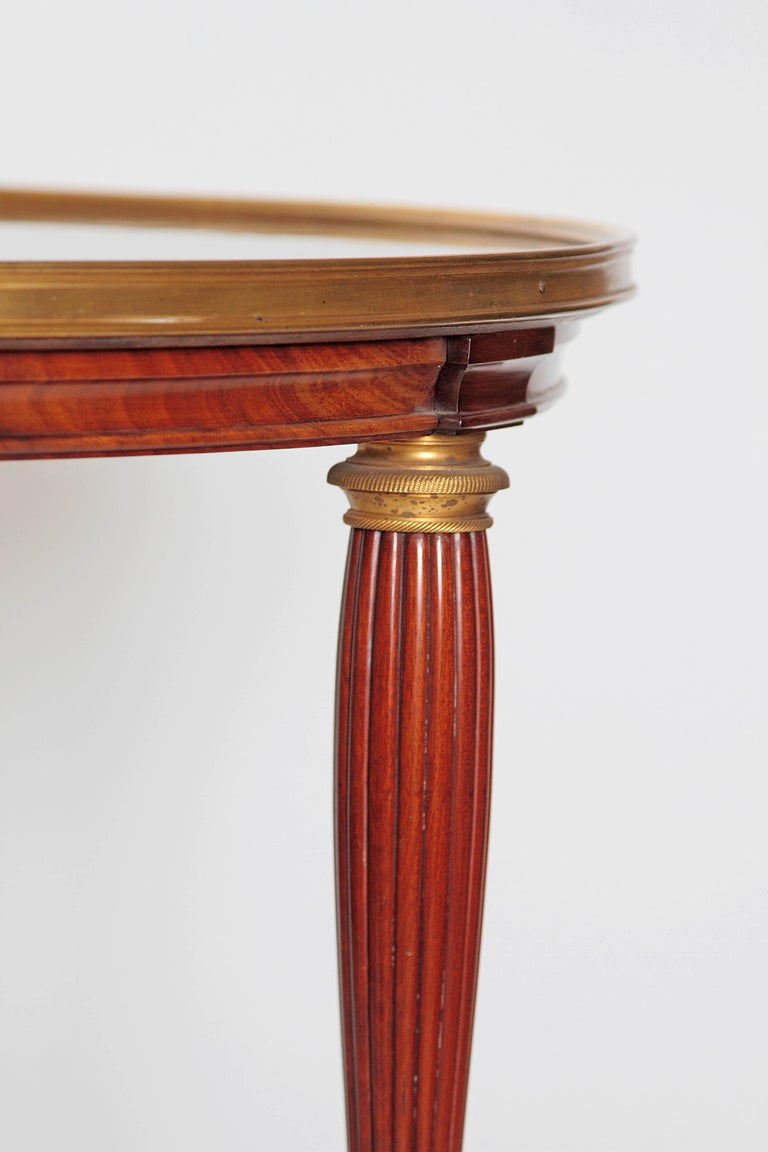 19th Century Russian Neoclassical Centre Table with Burled Walnut Top For Sale 5