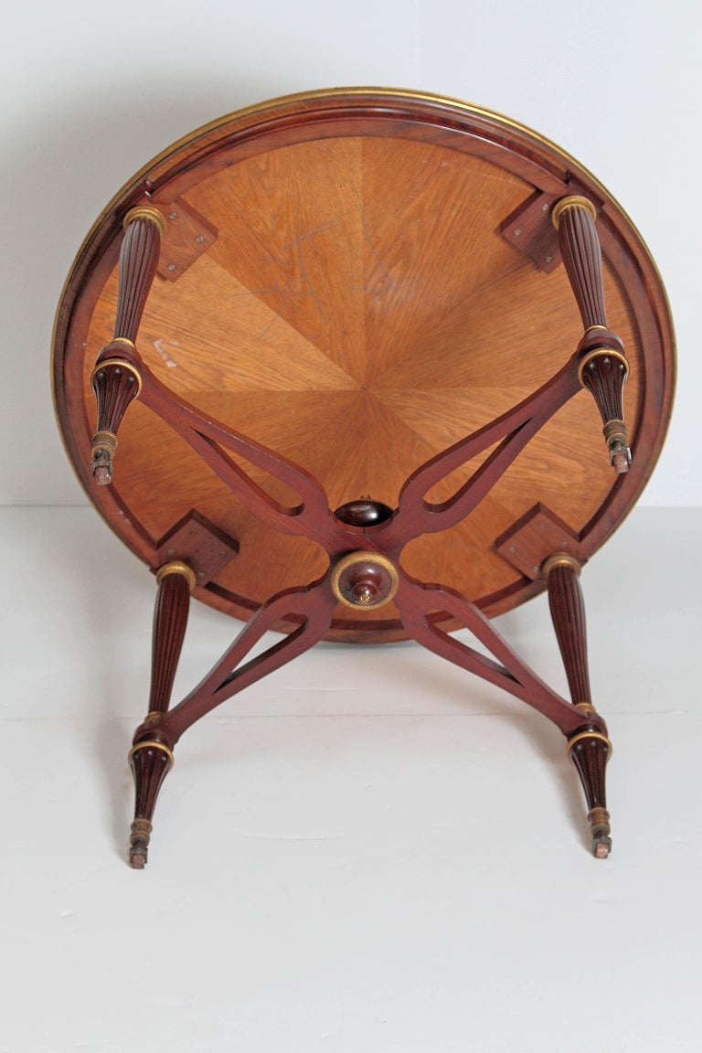 19th Century Russian Neoclassical Centre Table with Burled Walnut Top For Sale 6